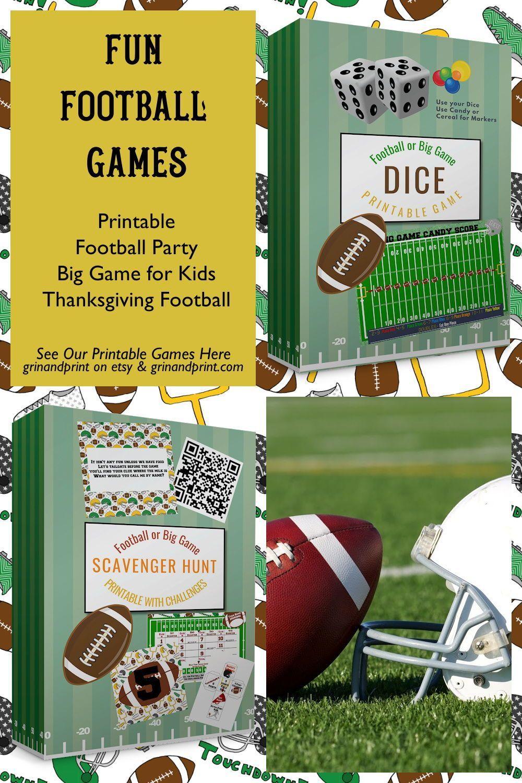 Football Scavenger Hunt Football Games Football Birthday Etsy In 2020 Football Birthday Party Theme Fun Thanksgiving Games Football Party Invitations