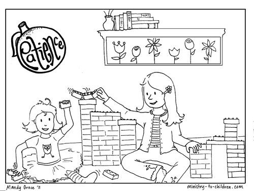 """Fruits Spirit Coloring Pages: Patience """"Fruit Of The Spirit"""" Coloring Page"""