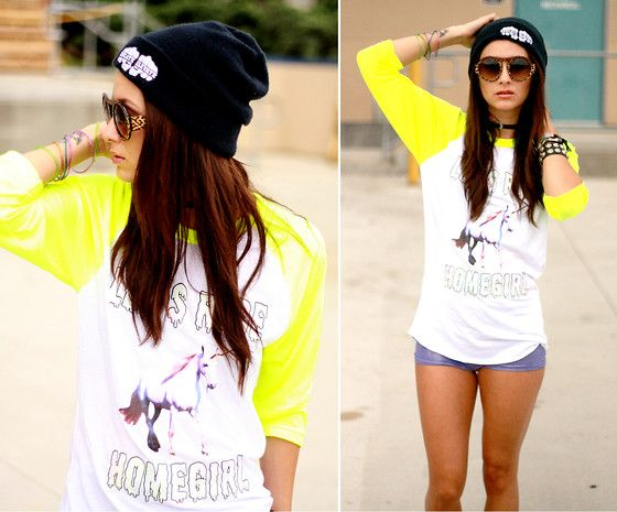 Educate Elevate Beanie, Miracle Eye Choker, The Pretty Junk Gangster Unicorn Baseball Tee