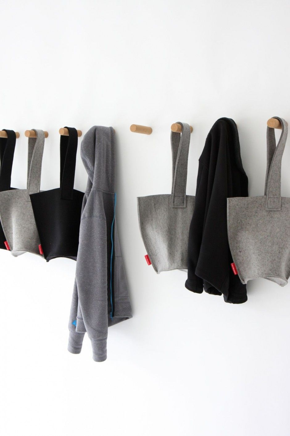 11 Creative Coat Hooks To Keep Your Clothes And Bags Off The Floor // These  Simple Peg Hangers Made From Cork Attach To The Wall By Means Of A Super  Strong ...