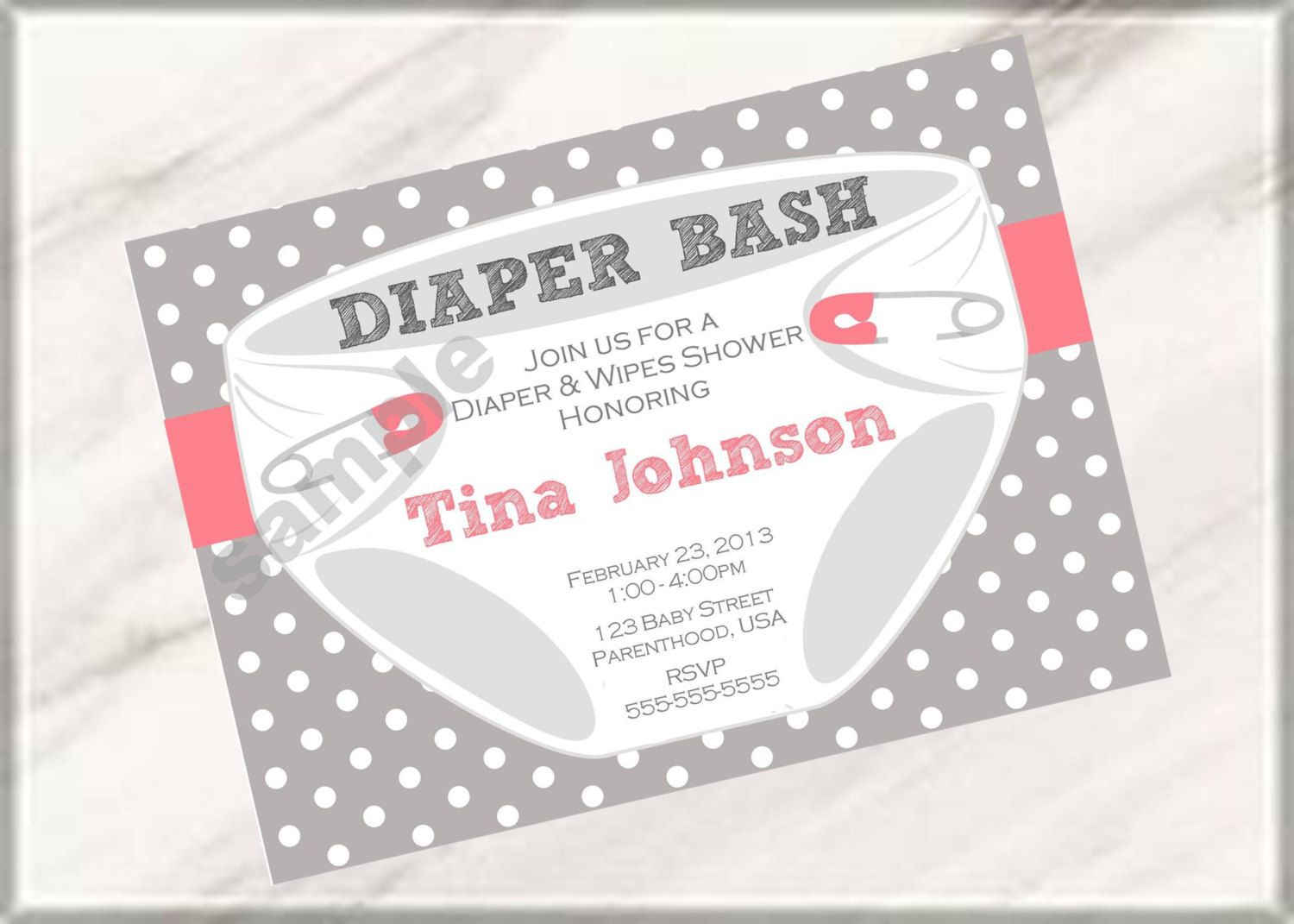 Diaper Bash Party Baby Shower Or Sprinkle Invitations Digital