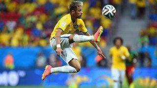 Neymar Of Brazil Controls The Ball Football World Cup 2014 Soccer