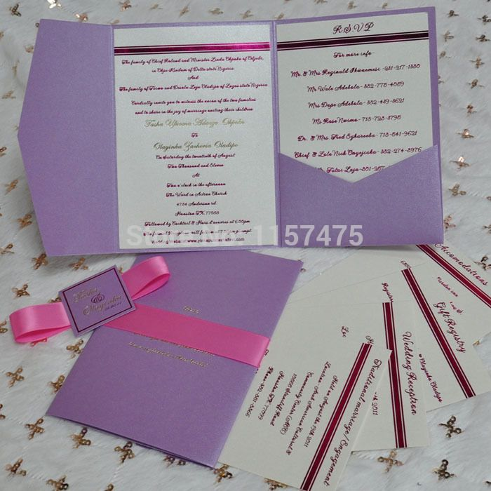 Diy Purple Wedding Invitations | Wedding Gallery | Pinterest ...