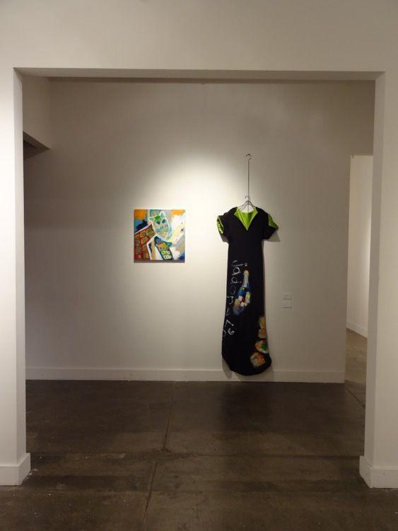 Clothes work of Setsuko Tatematsu, with paint by Taisuke.