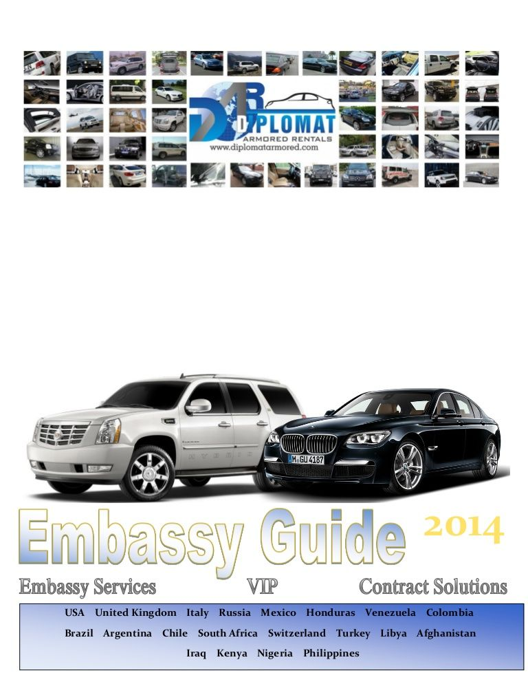 2014 Diplomat Armored Rentals Embassy Guide Armored Cars Armored Car