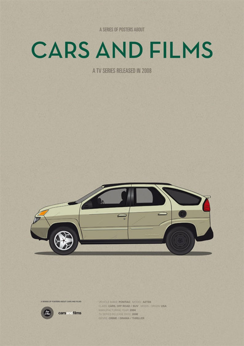 Breaking Bad car tv series poster art print A3 Cars And | Etsy