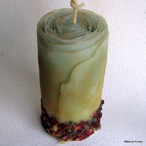 Beeswax Unity Candle W Roses Lavender Cinnamon Cloves Unique Boho Wedding Hippie Flower Woodland