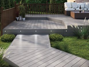 Eva-last Composite Decking Fluted Capetown Grey 20 x 140mm x 1.8m |  Wickes.co.uk | Deck garden, Deck designs backyard, Patio design