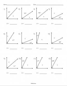 Complementary Angles Worksheet Example