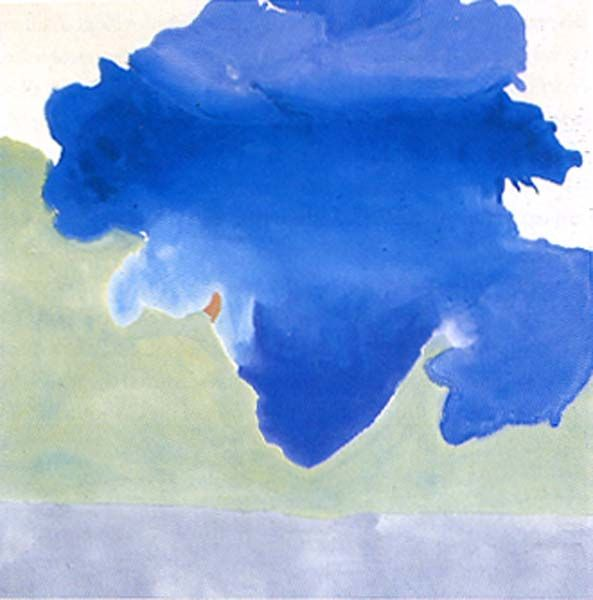 Preposition In Learn In Marathi All Complate: Abstract Ocean [Helen Frankenthaler, The Bay, 1956