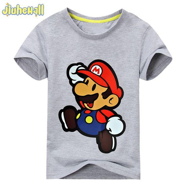 217303103 2017 Nuevos Niños de Dibujos Animados de Impresión de Manga Corta Camisetas  Para Niños Niñas 100
