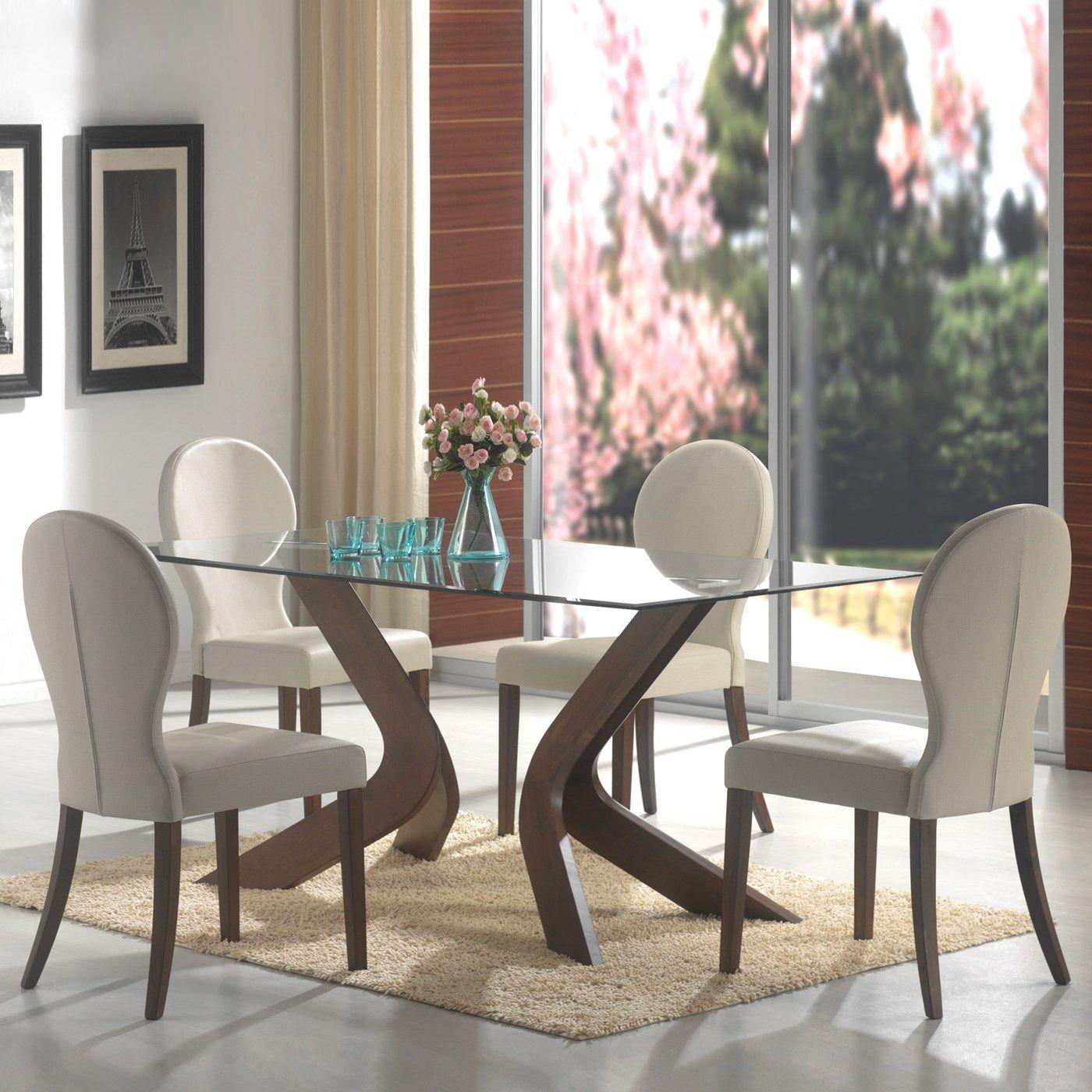 Coaster furniture san vicente glass top rectangular dining