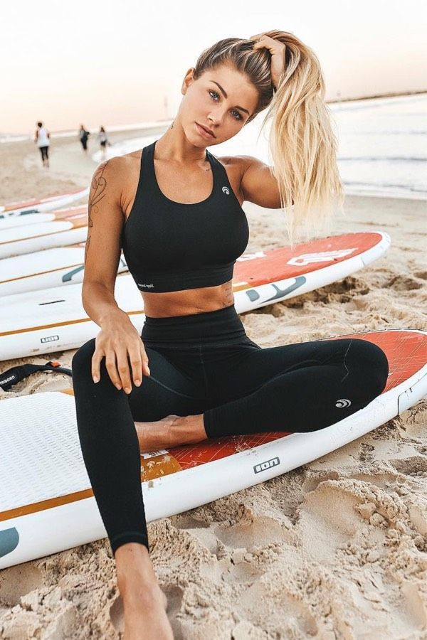 25 All Black Gym Outfits For Fitness Motivation -  #black #fitness #motivation #outfits