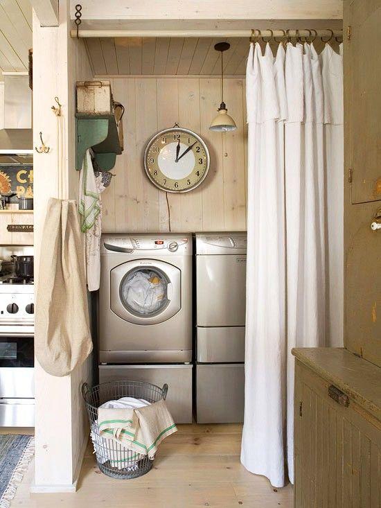 Curtains Laundry Space Jpg 550 733 Laundry Room Decor Hidden
