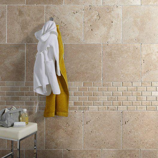 travertin_sol_et_mur_beige_effet_pierre_veritable_l_40_6_x_l_40_6_cm - carrelage en pierre naturelle salle de bain