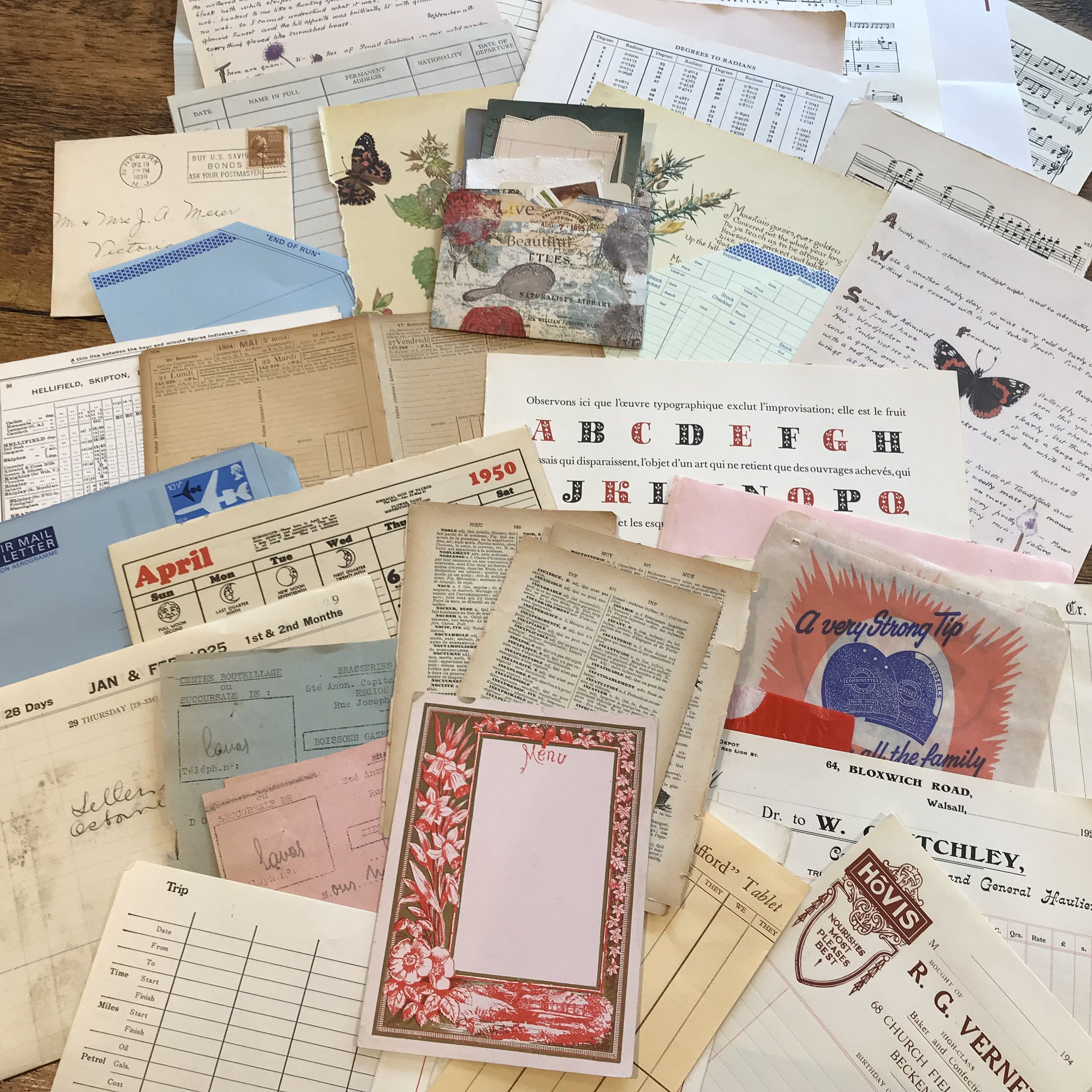 Vintage Paper And Ephemera Pack For Junk Journals Etsy Vintage Paper Vintage Playing Cards Mixed Media Collage