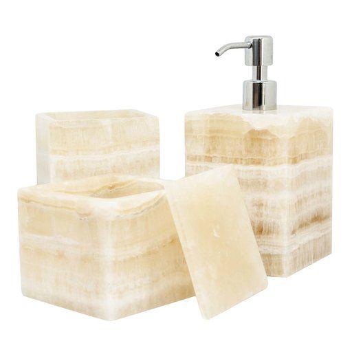 Photo of Square Onyx Bathroom Set