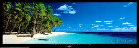 Island Beach, Maldives, North Indian Ocean Prints by Kenrou Kimura at AllPosters.com
