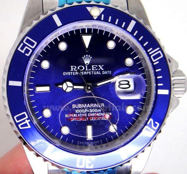 Rolex Submariner Blue face Stainless Steel watch 40mm