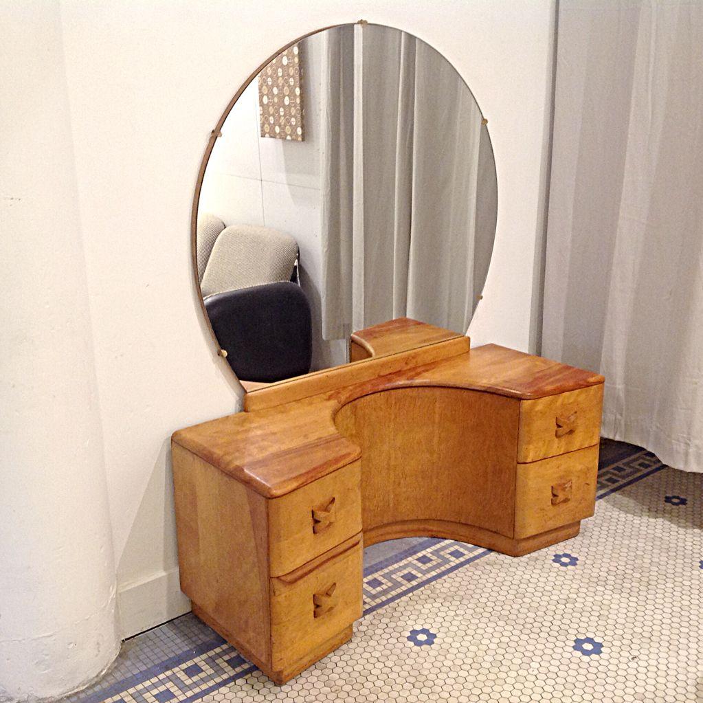 Heywood Wakefield Rio 4 Drawer Vanity W/ Mirror