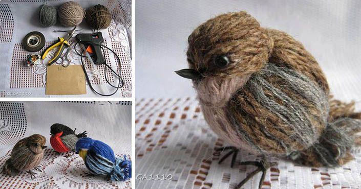 5b0e3f5a1 Kreatívny DIY nápad s návodom urob si sám na milé dekorácie v podobe  vtáčikov, ktoré