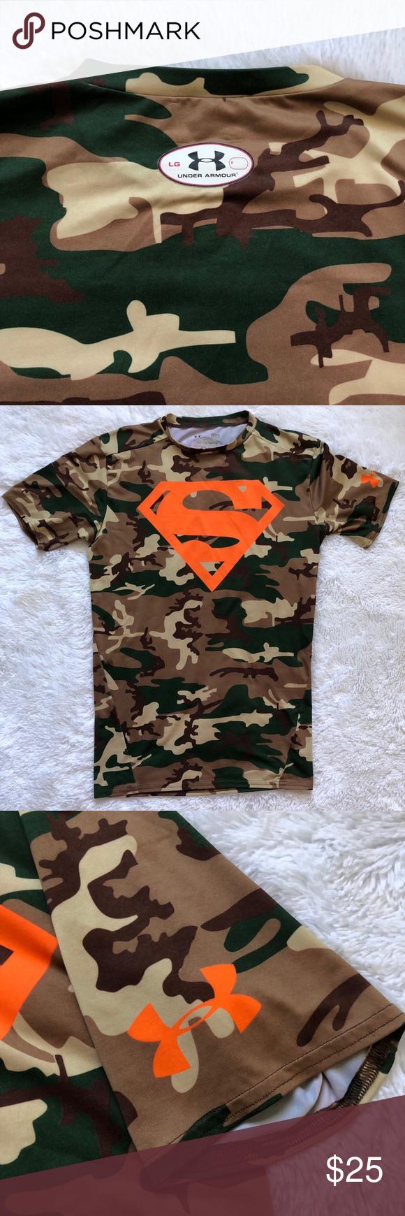3f8cd262 Under Armour Superman Camo Shirt Camo Superman shirt - UA. Perfect condition!  Under Armour Shirts & Tops Tees - Short Sleeve
