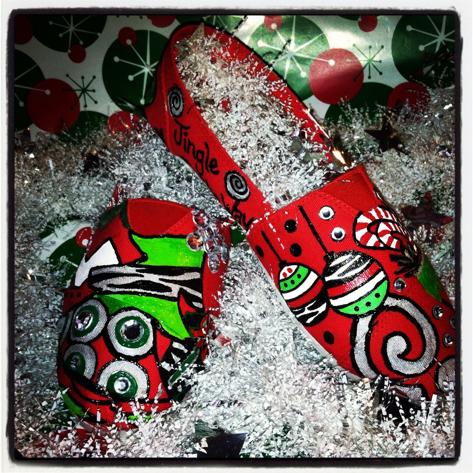 Christmas Shoes Diy.Christmas Painted Shoes I Like I Think Mrs