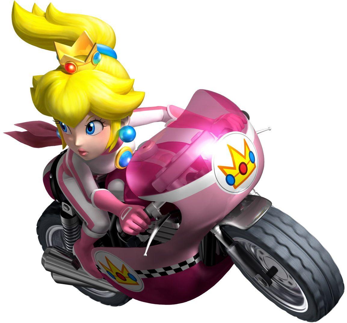 Peach En Moto Princess Peach Daisy And Rosalina Súper Mário