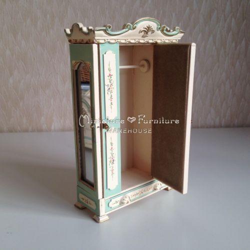 1-12-Dollhouse-Miniature-Furniture-Handcrafted-Belmont-Bleu-5pcs