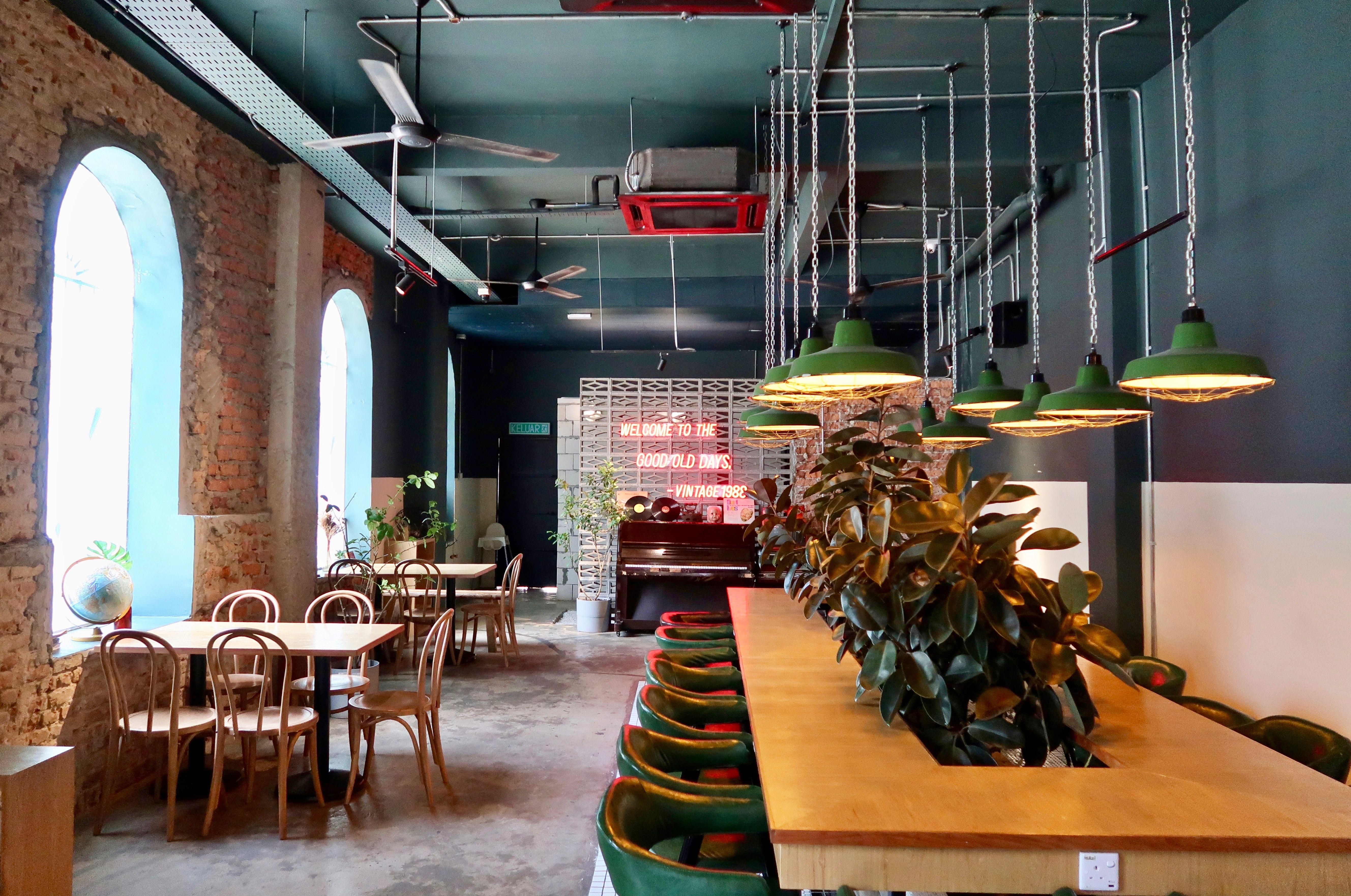 Vintage 1988 Cafe Kl Pink Neon Lights Cafe Cozy Space