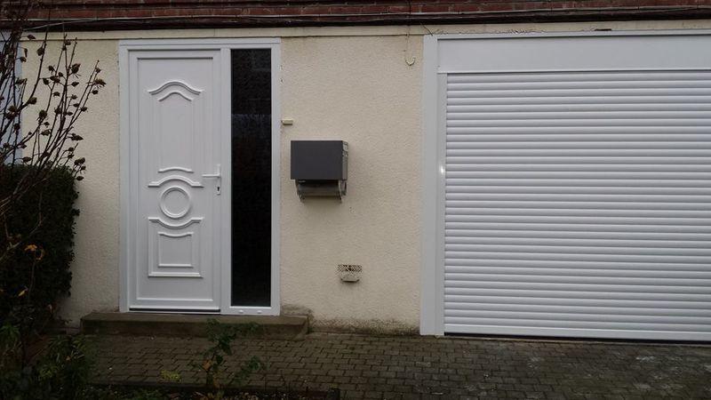 Porte d\u0027entrée, porte de garage à Lille Menuiseries  Fermetures - pose d une porte d entree