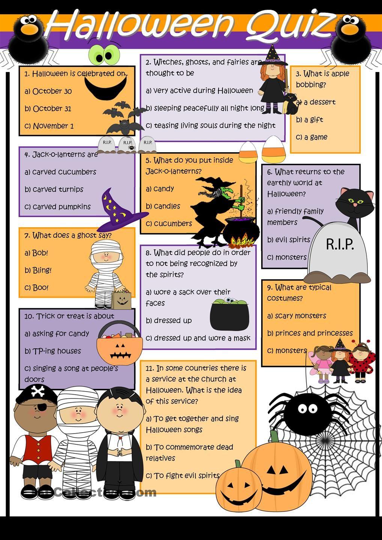 Halloween Quiz | English | Pinterest | Englisch, Englisch-Unterricht ...