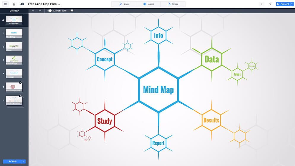 Free Mind Map Diagram Creative Colorful Prezi Presentation Template Prezi Next Prezi Templates Mind Map Mind Map Template