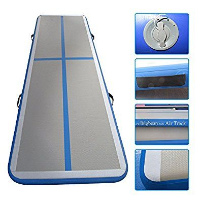 Ibigbean Gymnastics Tumbling Mat Air Floor For Home Use Beach Park And Water 10ft Blue Gymnastics Tumbling Mat Train Gym Mats