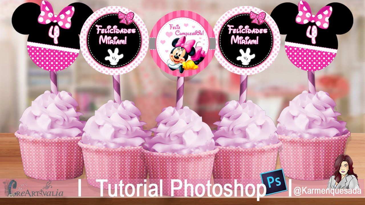 Toppers Minnie Tutorial Photoshop