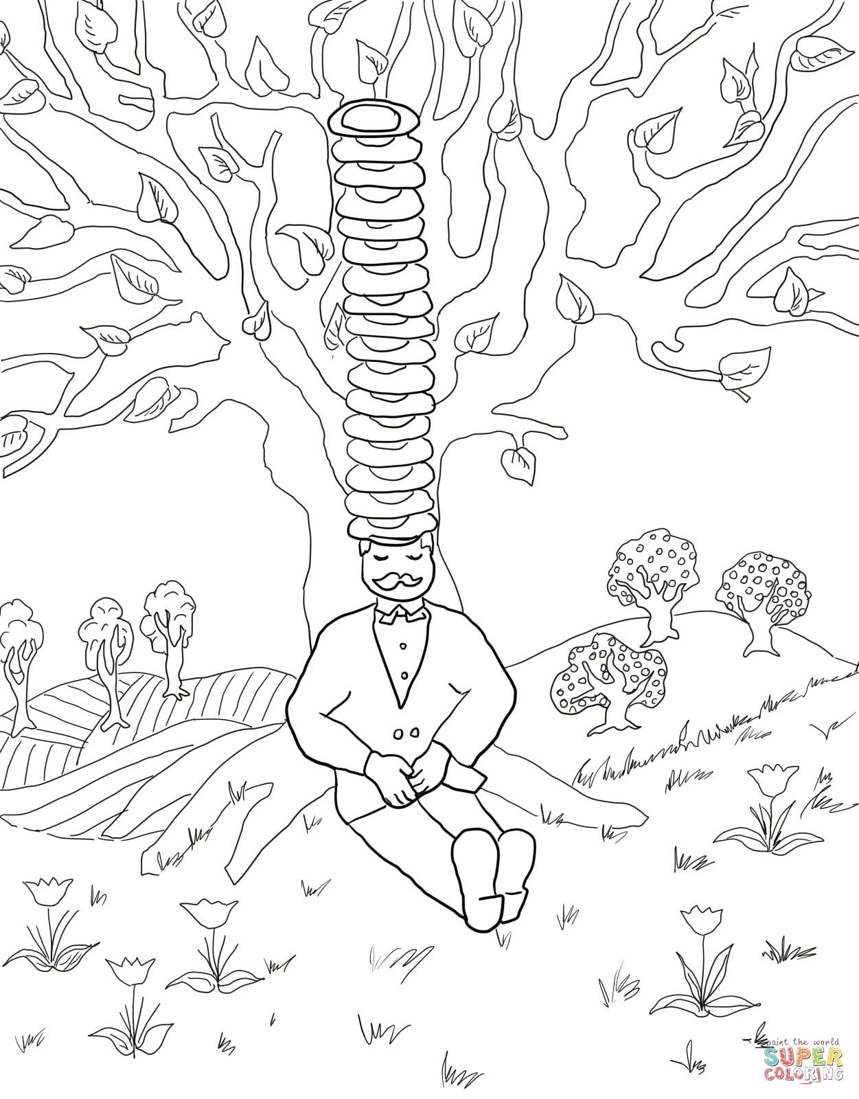 Cap S For Sale Colouring Pages