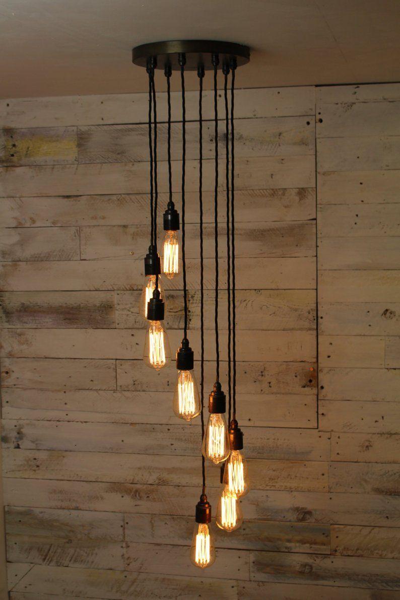 Handmade Urban Industrial Lighting | Spiral Pendant Light | Modern Chandelier // Dymchurch