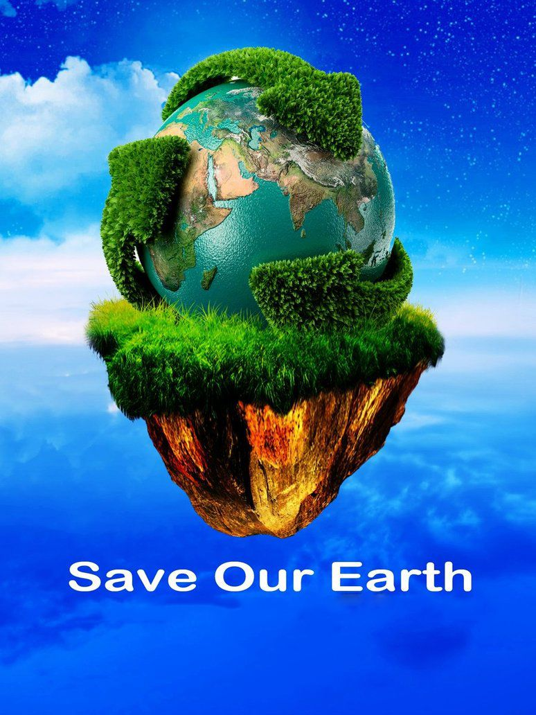 Posters on save environment with slogan