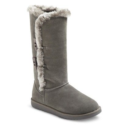d08a0c672d4 Target-Women's Kallima Suede Shearling Boot-Grey- Size 9 | To Want ...