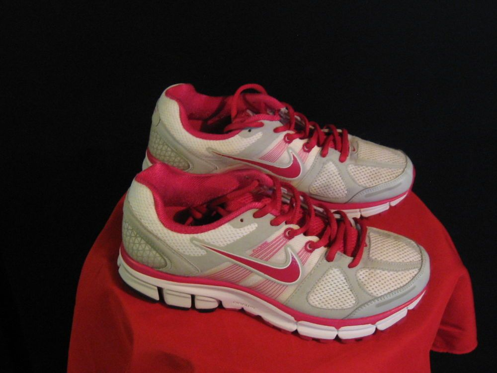 ecf119fbbf6d Womens Nike Air Pegasus 28 Running Shoes Size 8.5 White  Cerise  Pure  Platinum