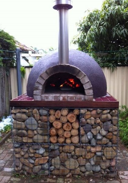 Gabion Wall Ideas With Free How To Guides Videos Pictures And Advice To Help Inspire Your Gabion Wall Project Gabion Wall Outdoor Pizza Pizza Oven