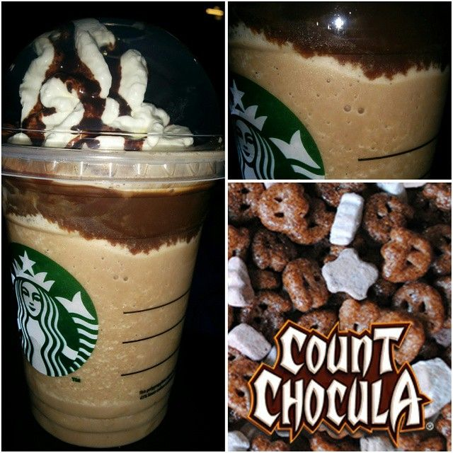 Just Added : *COUNT CHOCULA FRAPPUCCINO* ! Just like the Cereal! Marshmallows and chocolate were made for each other