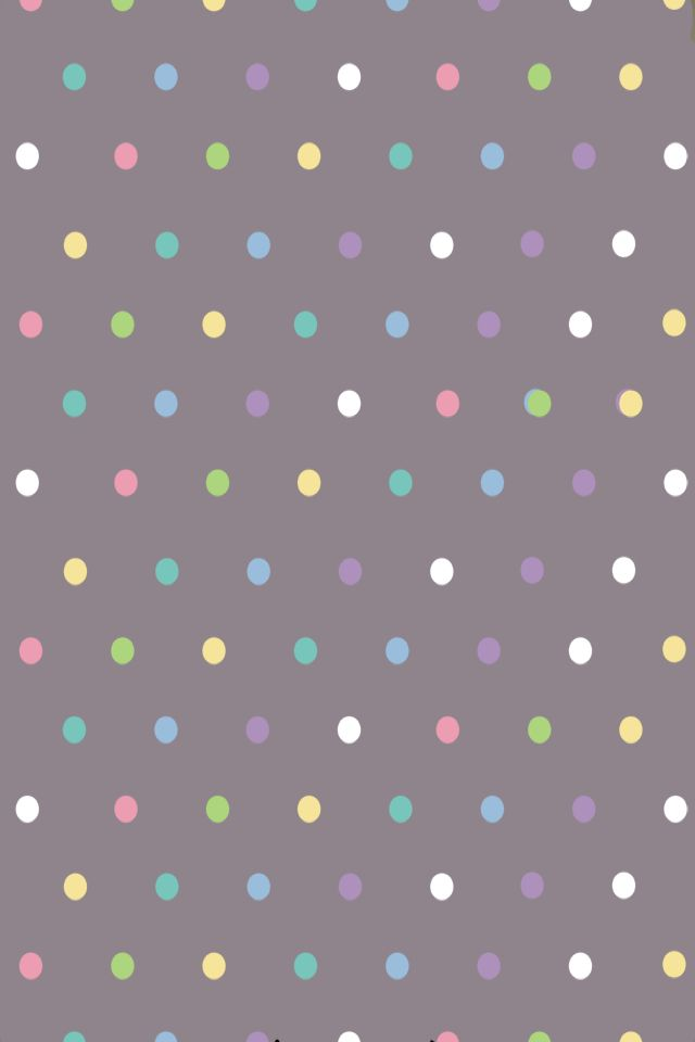 Charcoal Gray Pastels Polka Dots Wallpaper Backgrounds