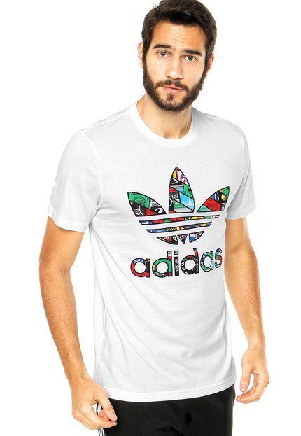 6ff74efa648 Camiseta adidas Originals Trefoil Tongue Branca - Marca Adidas Originals