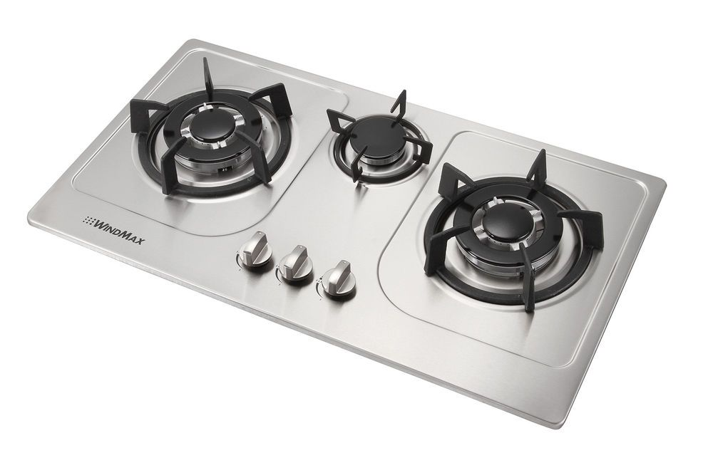 Euro Style 30inch 3 Burners Built In Gas Cooktop Fixed Natural Gas Hob Cooker Ebay Cooktop Stainless Steel Cooktop Gas Cooktop