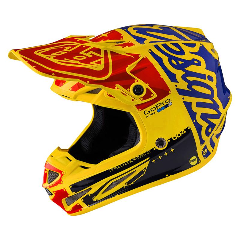 Casque Cross Tld Se4 Carbon Factory Yellow Casques Motocross