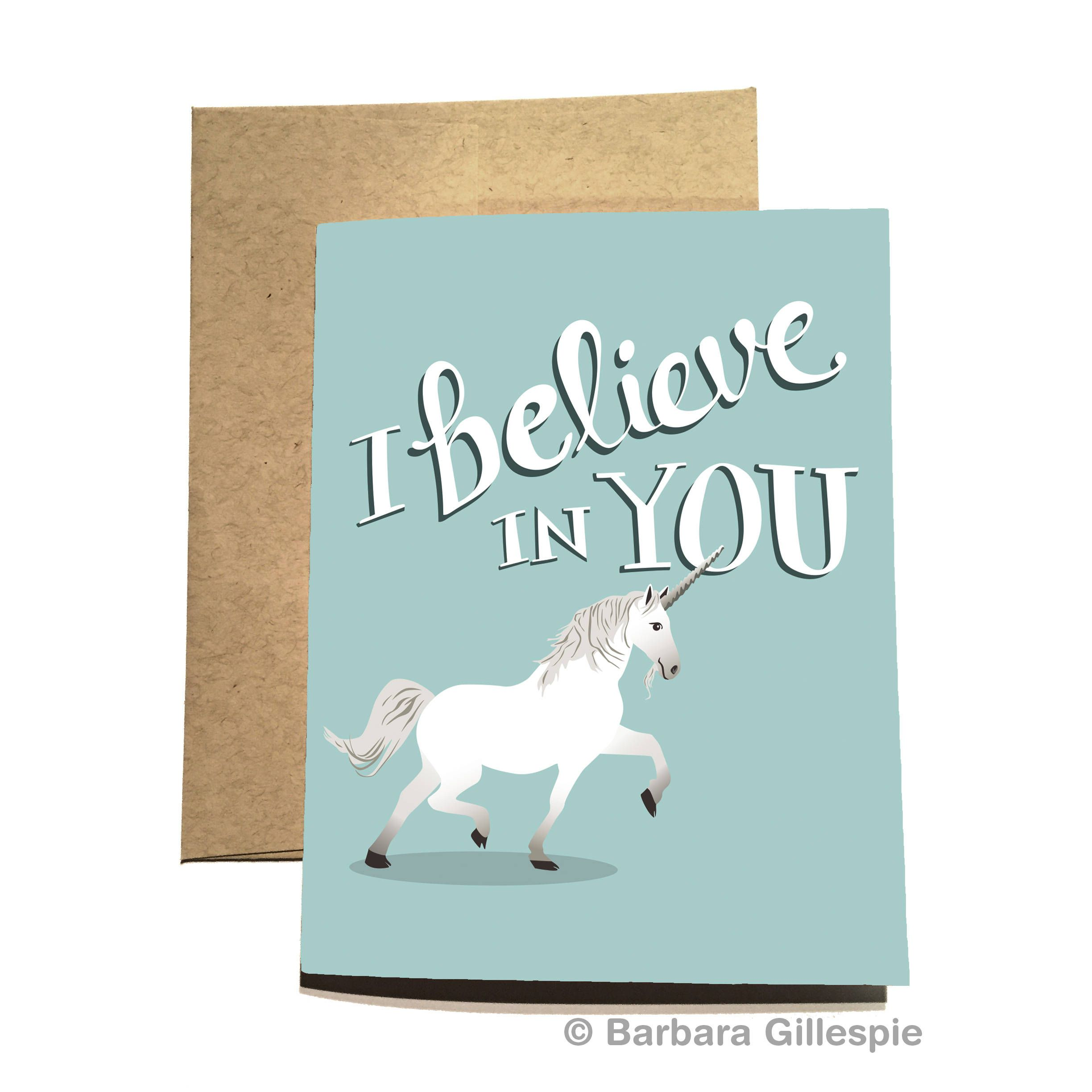 We all have a little unicorn inside us unicorn encouragement card i believe in this magical and unique unicorn greeting card by flopsockdesigns on etsy blank inside size x professionally printed in nyc on premium kristyandbryce Image collections