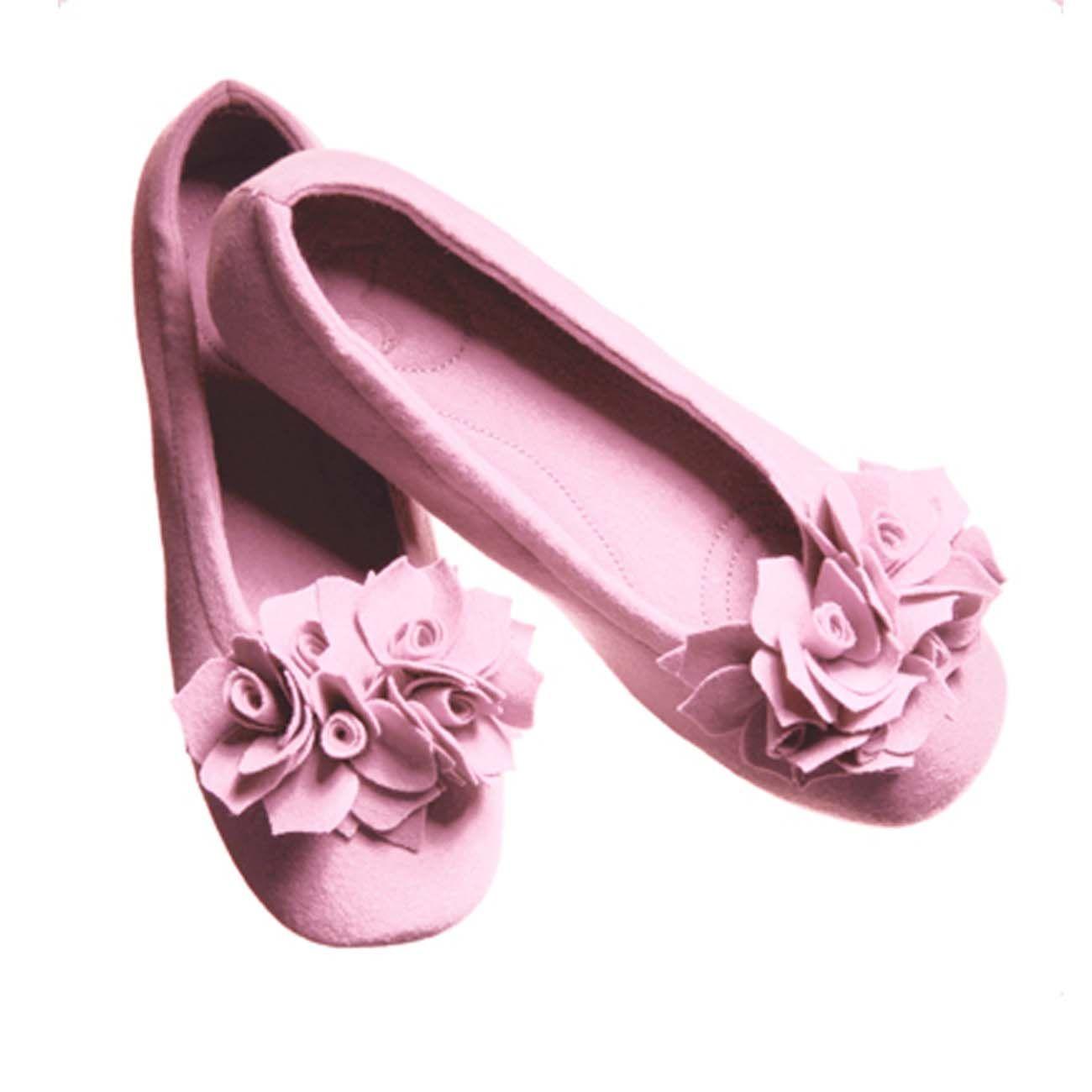 Pampuschen Hausschuh Ballerina Grace, Kies