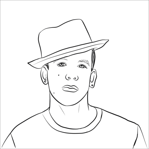 Daddy Yankee Coloring Page Coloring Pages Baseball Coloring Pages Love Coloring Pages