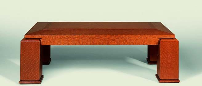 coffee table craftsman style arts and crafts wood